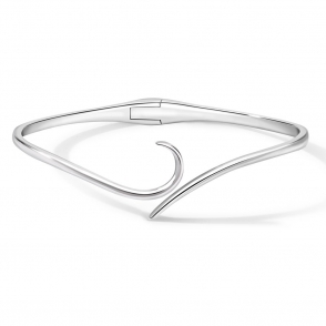 Sterling Silver Snowdrop Bangle