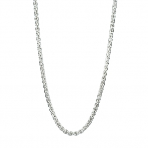 "Sterling Silver Spiga 16"" Chain"