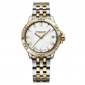 Tango ladies Steel and Yellow Gold PVD quartz watch with Roman Numerals