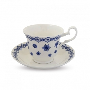 The Triumph of Delft Teacup and Saucer