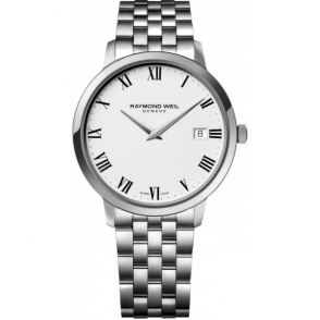 Toccata Gents steel quartz bracelet watch with white dial and Roman numerals - 5488-ST-00300