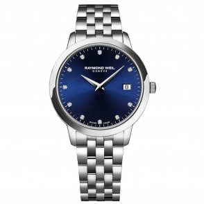 Toccata Ladies Watch with Midnight Blue Dial and Diamond Hours