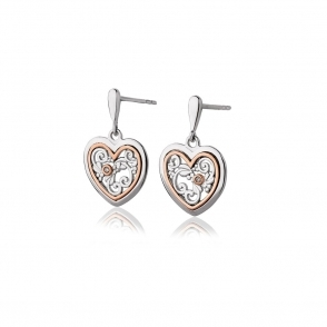 Tree of Life One Diamond Earrings