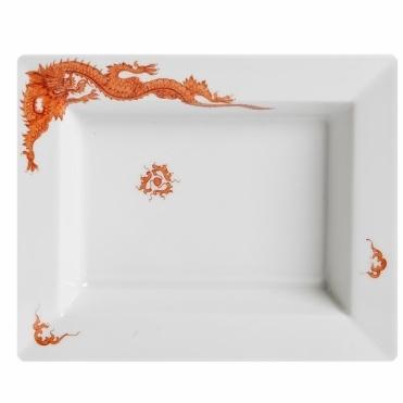 Red Ming Dragon Dish