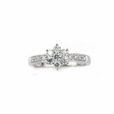 Ritone 18ct White Gold Multi-Stone Diamond Ring RRP £2280