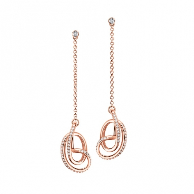 Rose Gold Vermeil CZ Serenity Drop Earrings