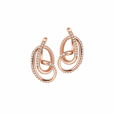 Rose Gold Vermeil CZ Serenity Stud Earrings