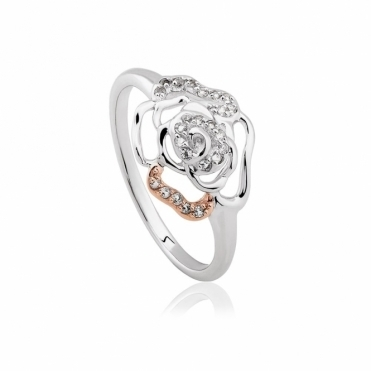 Royal Roses White Topaz Ring