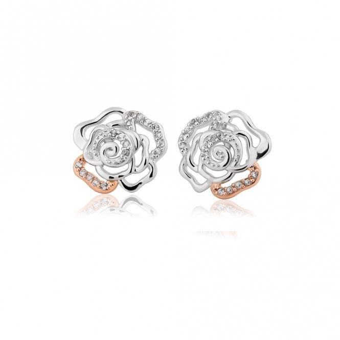 Royal Roses White Topaz Stud Earrings