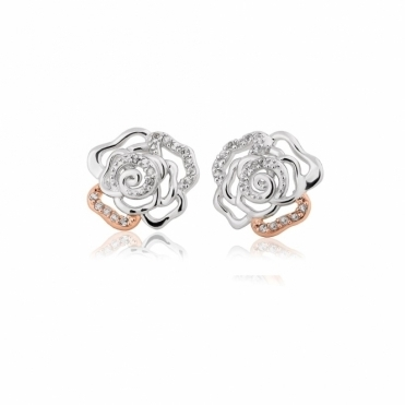 Royal Roses White Topaz Stud Earrings