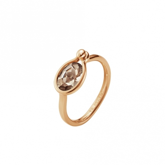 Savannah 18ct Rose Gold and Smokey Quartz Small Ring