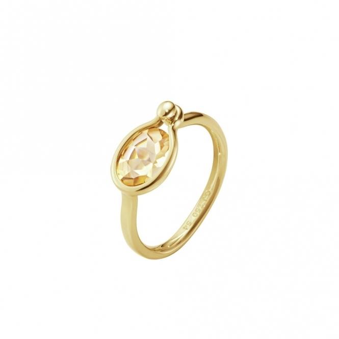 Savannah 18ct Yellow Gold and Citrine Small Ring