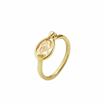 Savannah 18ct Yellow Gold and Citrine Small Ring