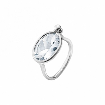 Savannah Sterling Silver and Rock Crystal Ring - Medium