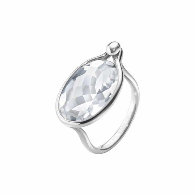 Savannah Sterling Silver and Rock Crystal Ring