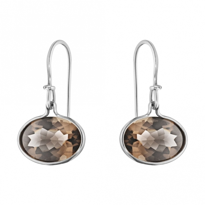 Savannah Sterling Silver and Smokey Quartz Earrings