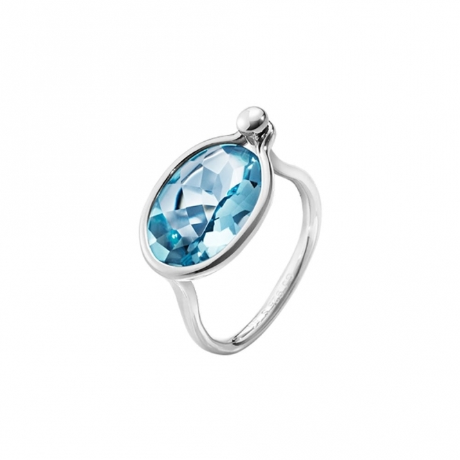 Savannah Sterling Silver and Topaz Ring - Medium