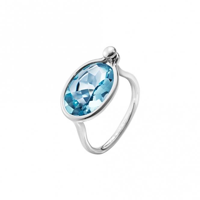 Savannah Sterling Silver and Topaz Ring - Medium