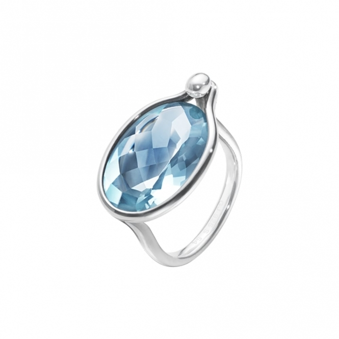 Savannah Sterling Silver and Topaz Ring