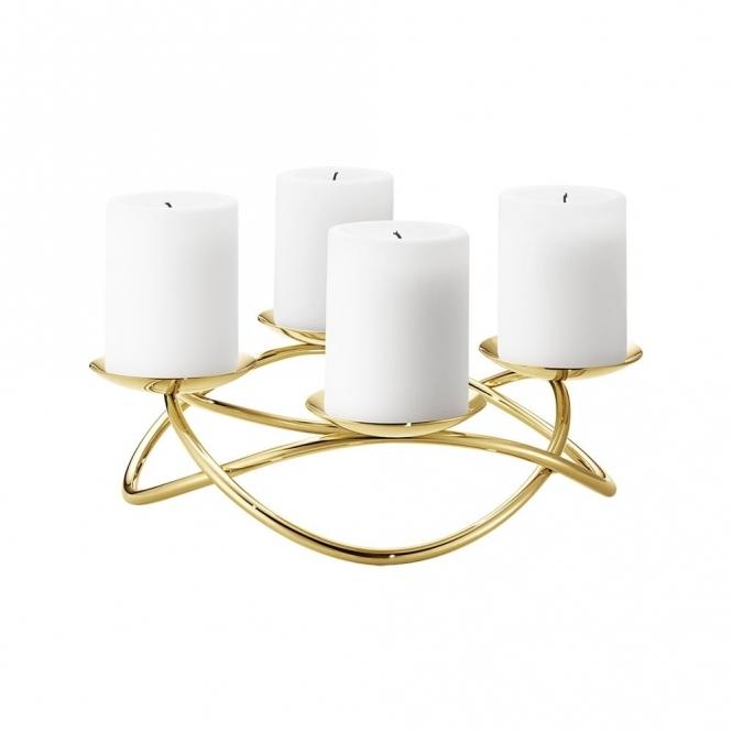 Season Large Gold Candleholder