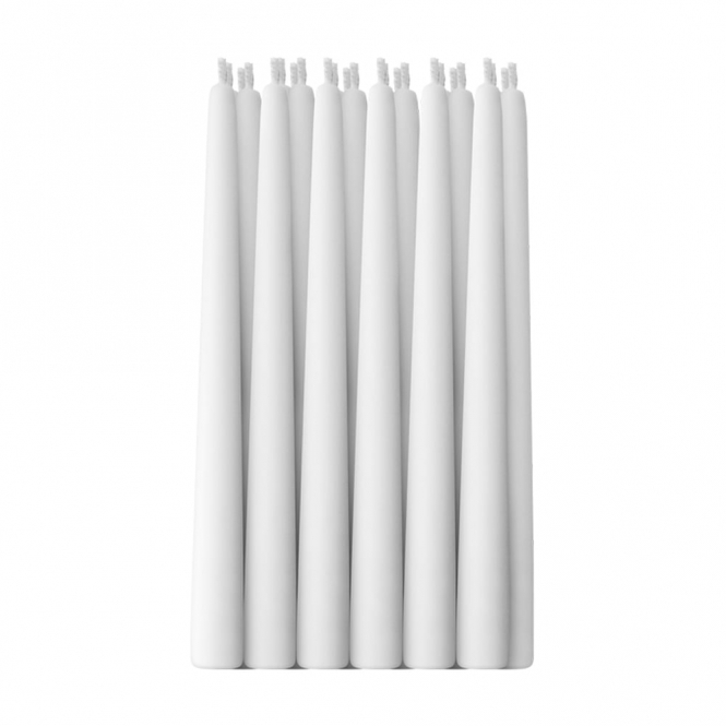 Self Extinguishing White Candles / 24 Pieces.