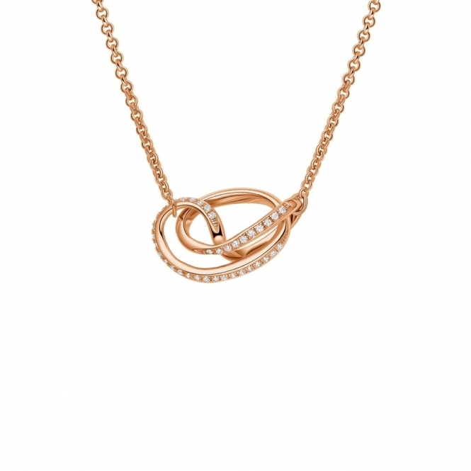 Serenity Pendant with CZ in Rose Gold Finish