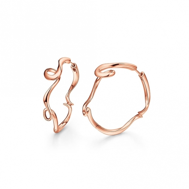 Serenity Small Hoop Earrings in Rose Gold Finish