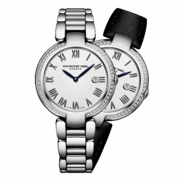 Shine ladies 32mm Quartz Watch with Diamonds and Interchangeable Straps