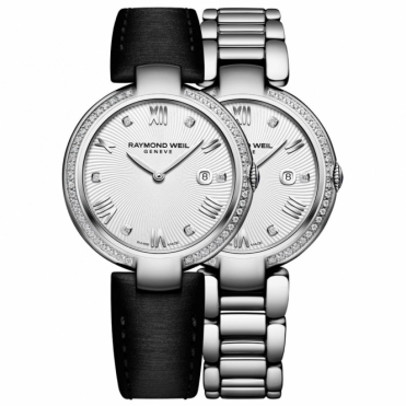 Shine Ladies Quartz Watch with Diamonds and Interchangeable Strap