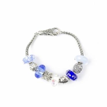 Silver 16cm Blue Trollbeads Bracelet RRP £395