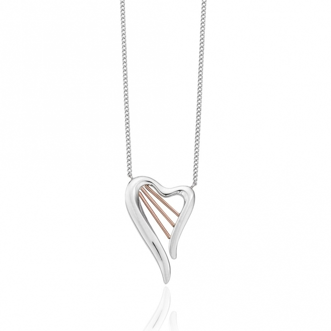 Silver & 9ct Gold Heartstrings Necklace