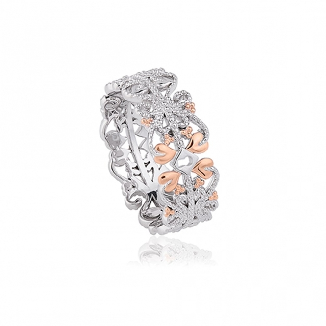 Silver & 9ct Gold Kensington Ring