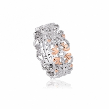 Silver & 9ct Gold Kensington Ring