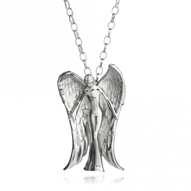 Silver Alban Angel Pendant (Large)