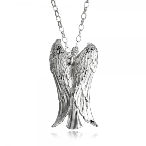 Sterling silver alban collection large alban angel pendant wharton silver alban angel pendant large aloadofball Gallery