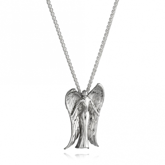 Silver Alban Angel Pendant (Small)