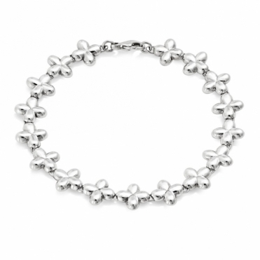Silver Alban Clover Bracelet