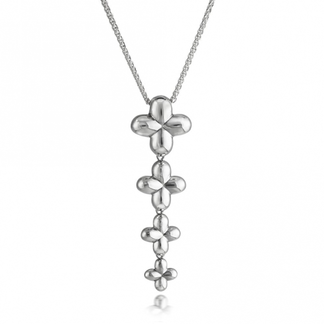 Silver Alban Clover Pendant