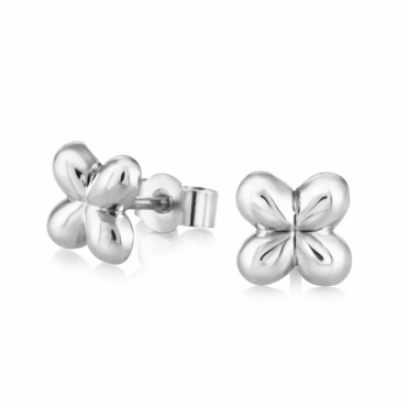 Silver Alban Clover Stud Earrings (Small)