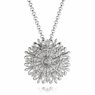 Silver Alban Flower Pendant
