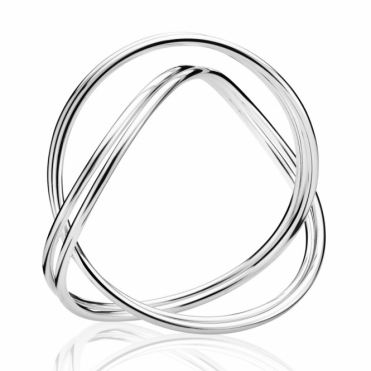 Silver Alliance Double Bangle