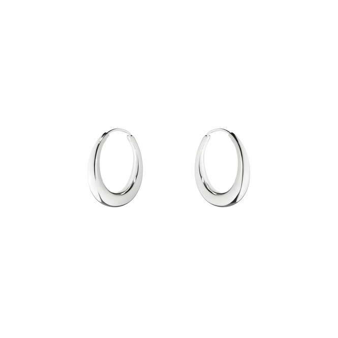 Silver Aura A29 Hoop Earrings