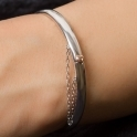 Silver Cariad Heart Bangle