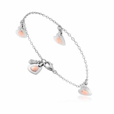 Silver Cariad Heart Bracelet