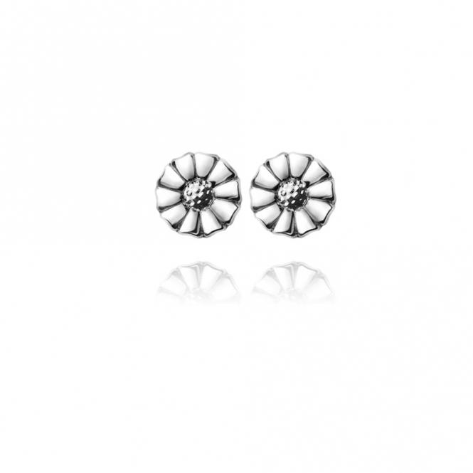 Silver Daisy Ear Studs