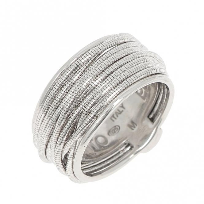 Silver DNA Spring Ring