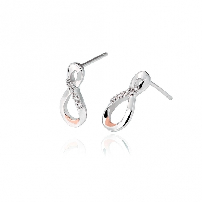 Silver Eternity Diamond Drop Earrings