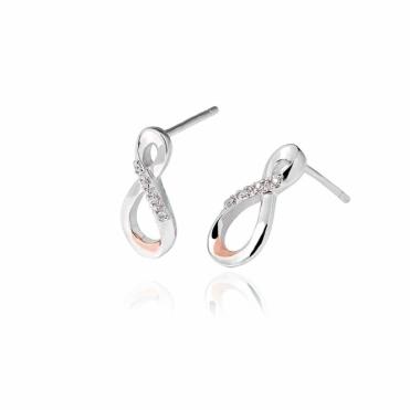 Silver Eternity Diamond Drop Earrings
