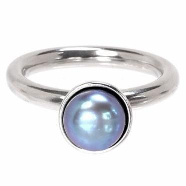 Silver Fresh Water Pearl Twinkle Ring