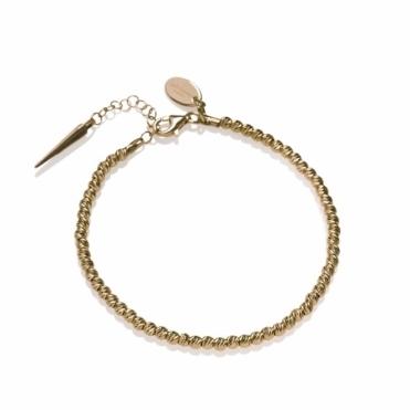 Silver & Gold Moonball Bracelet